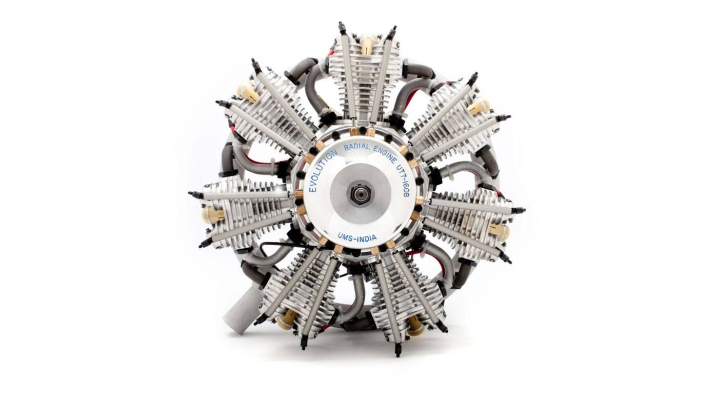 Image for 7-Cylinder 160cc 4-Stroke Gas Radial Engine from HorizonHobby
