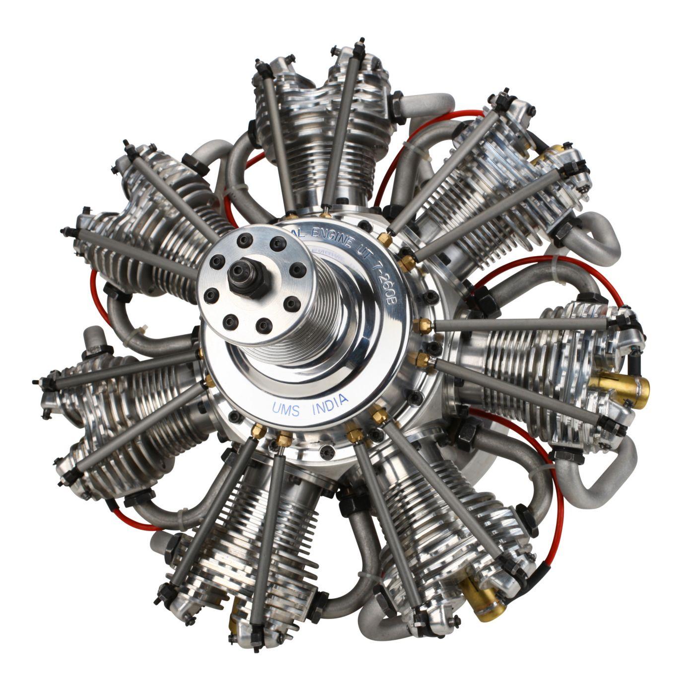 7 Cylinder 260cc 4 Stroke Gas Radial Engine Horizonhobby
