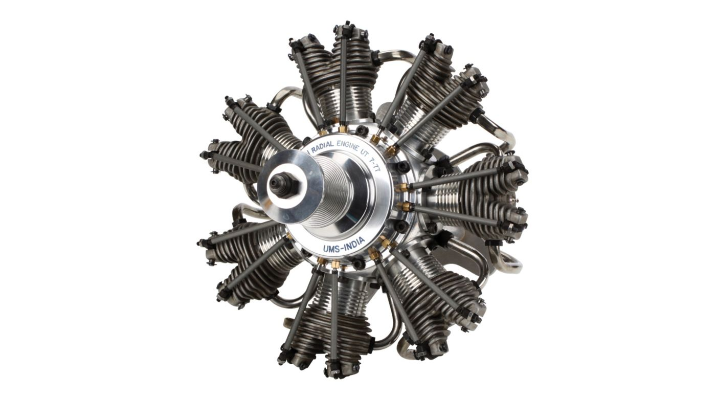 Image for 7-Cylinder 77cc 4-Stroke Glow Radial Engine from HorizonHobby