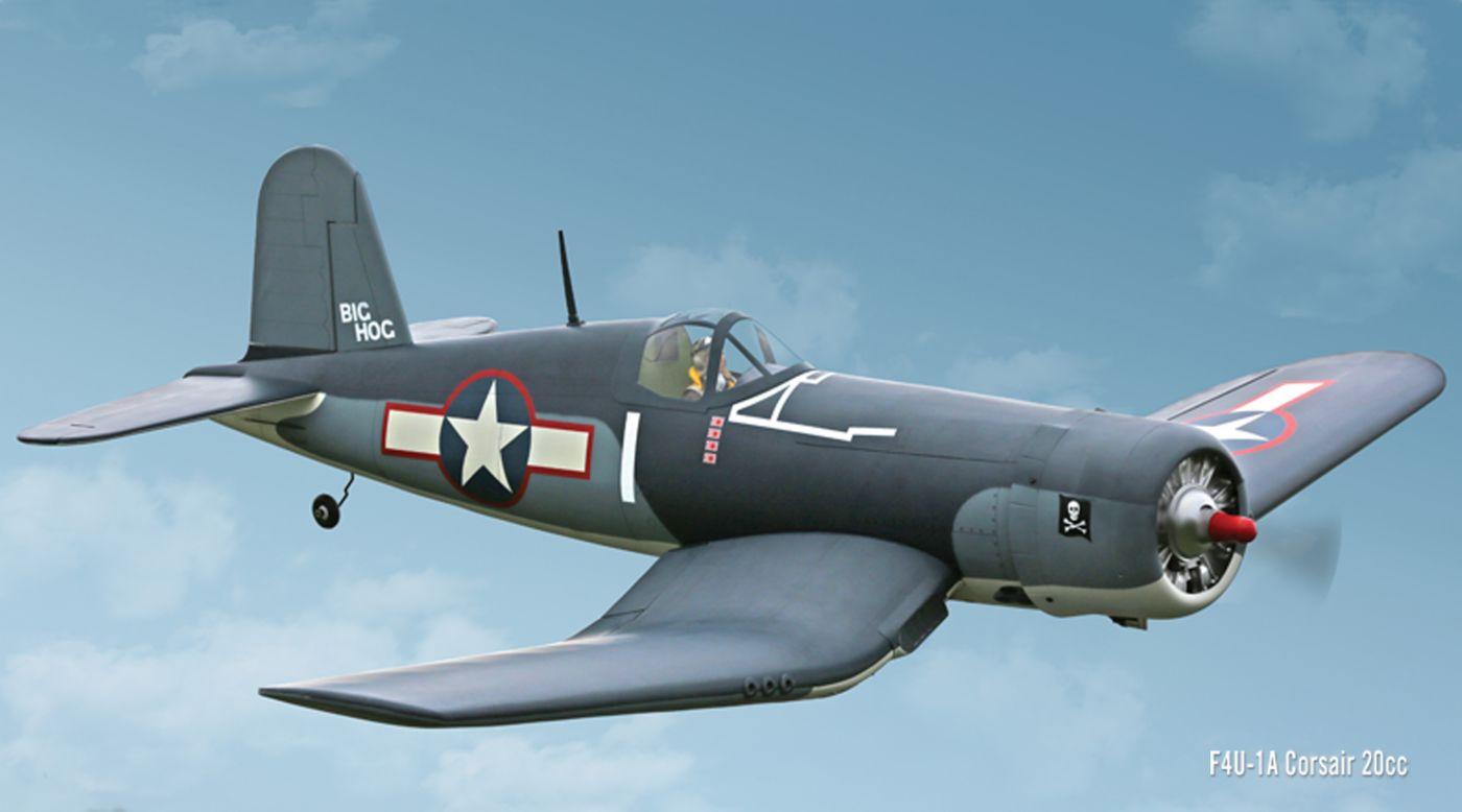 Hangar 9 F4u 1a Corsair 20cc Rc Model Airplane Arf