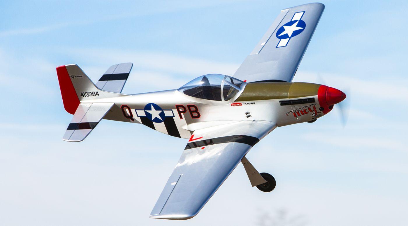 Hangar 9 P 51 Mustang S 8cc Bind N Fly Rc Gas Trainer