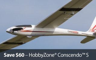 HobbyZone Conscendo S Safe Sailplane Glider