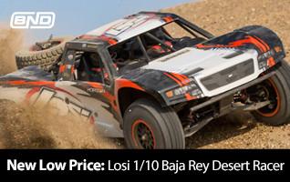 New Low Price! Losi 1/10 Baja Rey Desert Racer BND