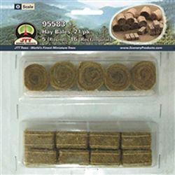 JTT95583 JTT Scenery Products O Hay Bales Rnd/Rectngl 21/ 373-95583