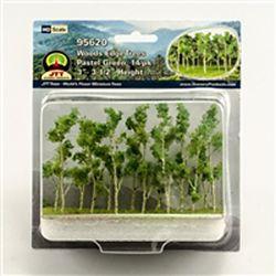JTT95620 JTT Scenery Products Woods Edg Tree Lt Grn 14/ 373-95620