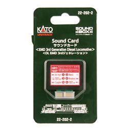 Kato 2-22022 Soundbox Sound Card 3rd Generation EMD Diesel Sound Files Card Fits Soundbox 22-1011