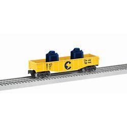 Lionel 682076 O-27 Gondola w/Containers, Chessie 434 -682076