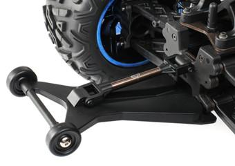 Optional Wheelie Bar Included