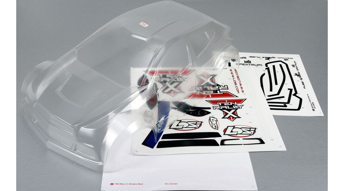 Image for Clear Body: TEN-Rally-X from HorizonHobby