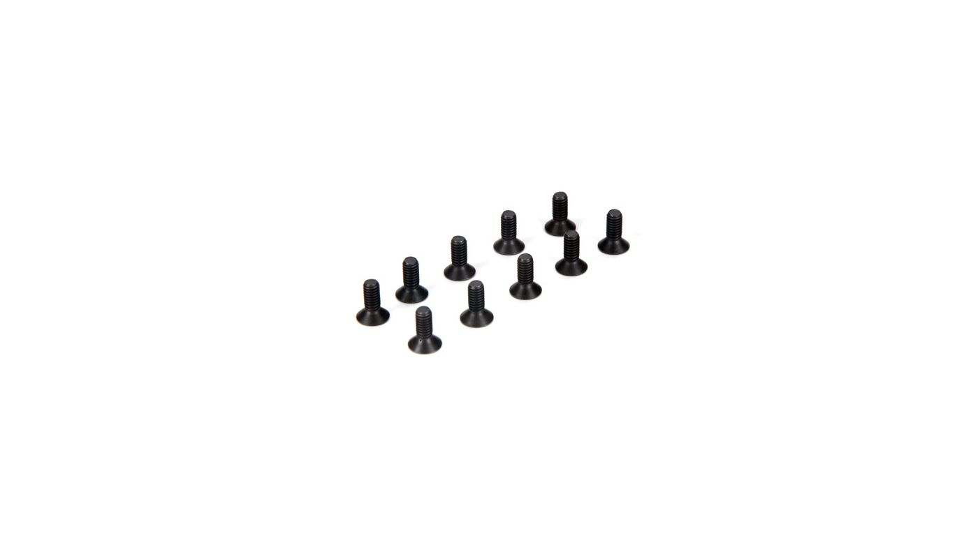 Image for 4mm x 10mm Flat Head Screws (10) from HorizonHobby