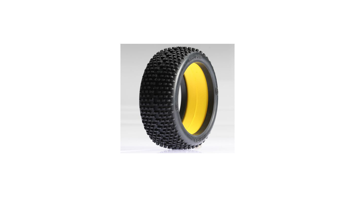 Image for 1/8 Eclipse Buggy Tire with Foam, Red (2) from HorizonHobby