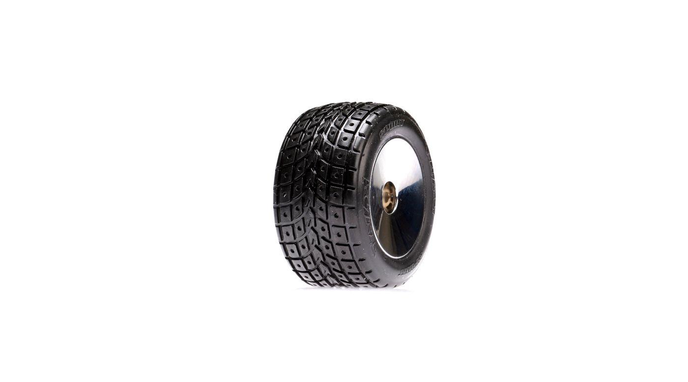 Image for Rear Street Treads Glued, Chrome Wheels(2): Mini-T from HorizonHobby
