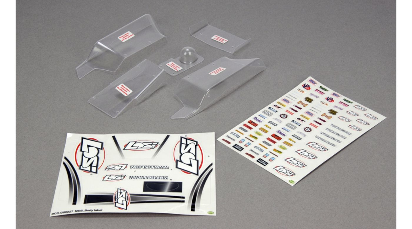 Image for Mini Desert Buggy Body Set, Clear with Stickers from HorizonHobby