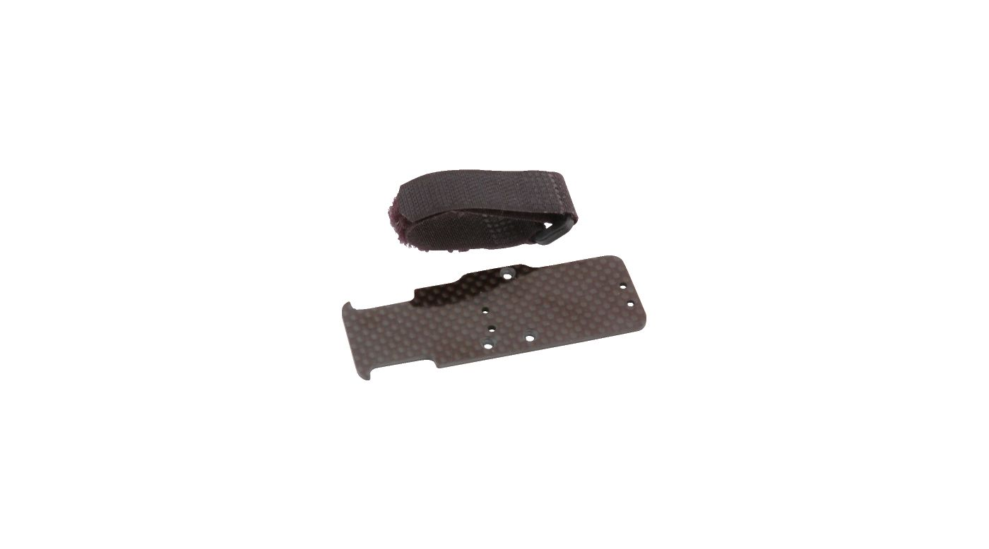 Image for Servo/LiPo Battery Plate, Carbon Fiber: MRC from HorizonHobby