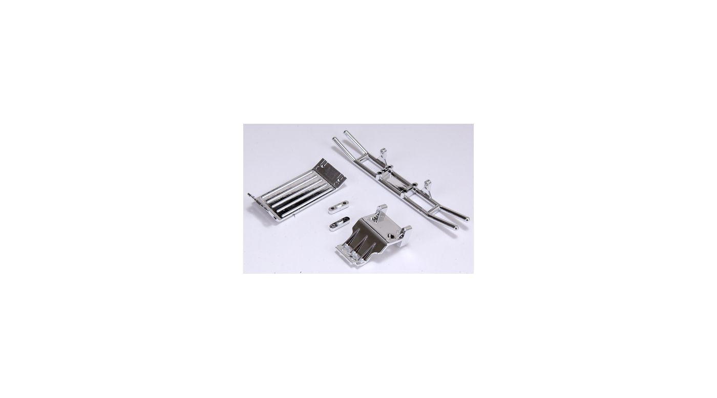 Image for Rear Bumper Assembly & Skid Plate, Chrome: HRL from HorizonHobby