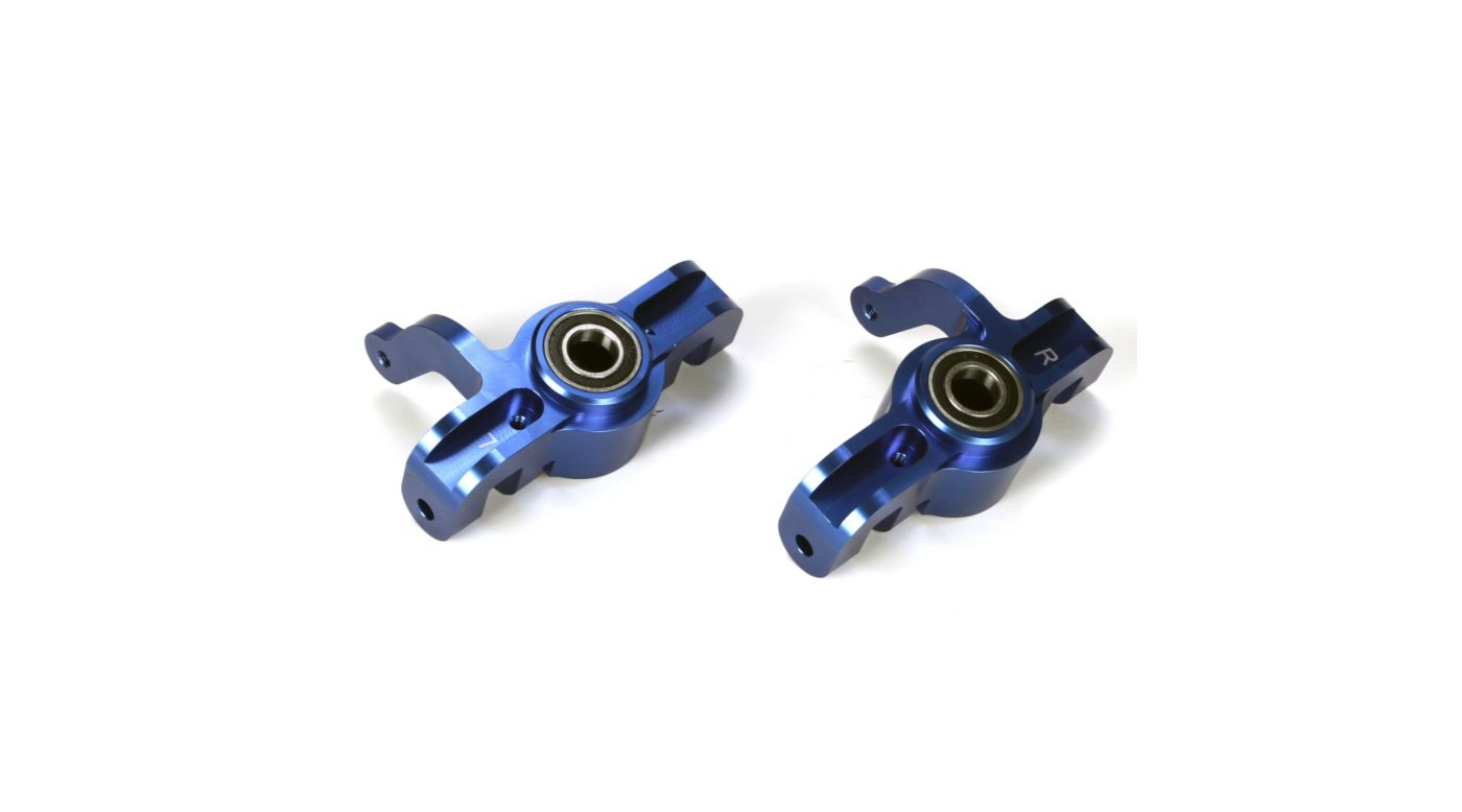 Image for Alum Front Spindle Set w/BB, Blue (2): 5IVE-T, MINI WRC from HorizonHobby