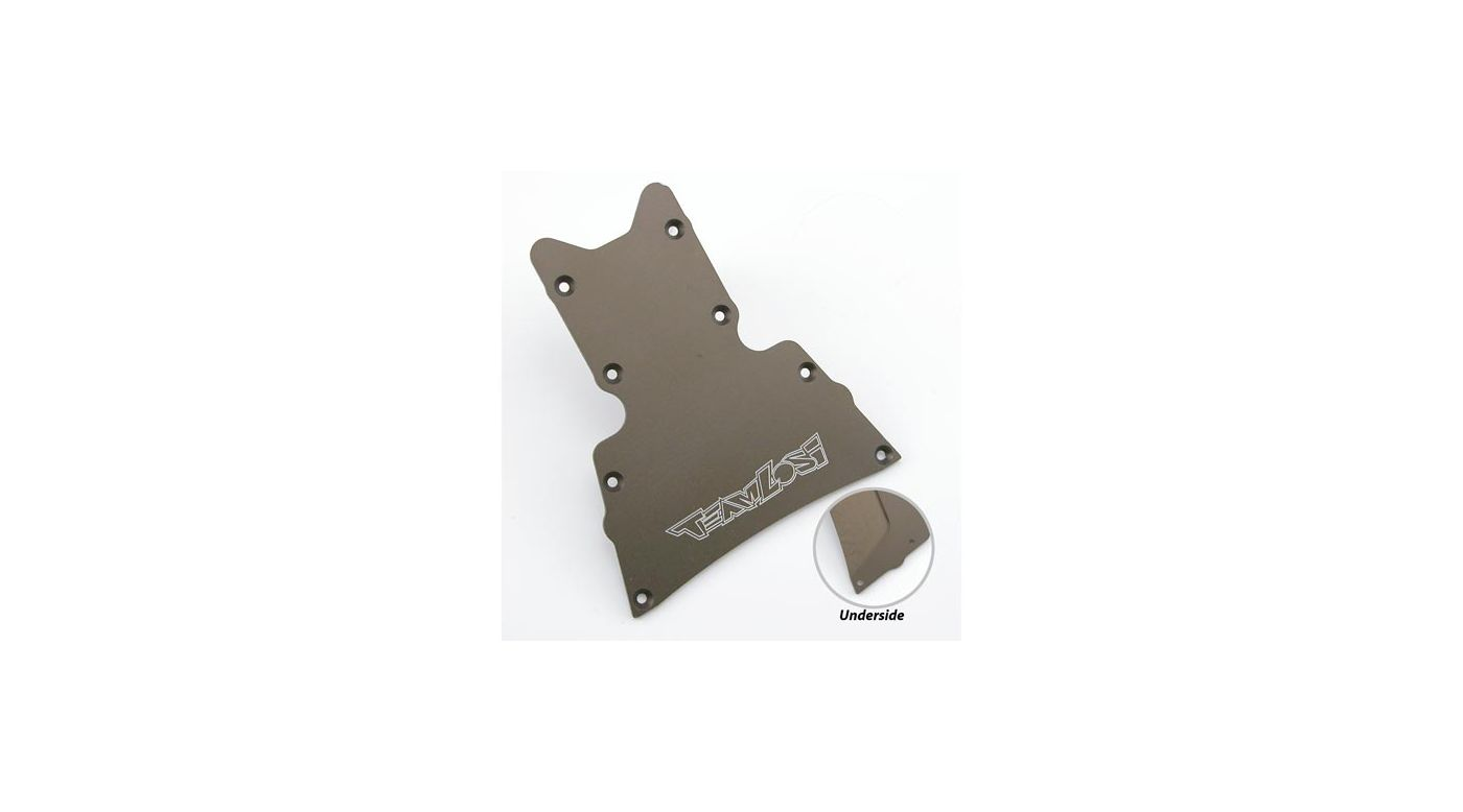 Image for HD Front Bottom Plate, Hard Anod: LST,LST2,AFT,MGB from HorizonHobby