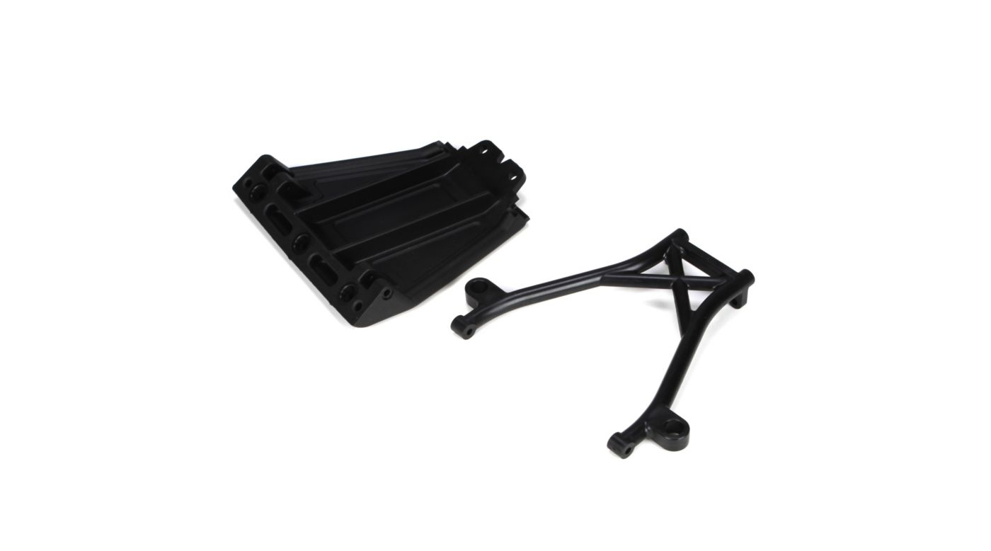 Image for Front Skid Plate,Bumper Brace & Spacers: 5TT from HorizonHobby