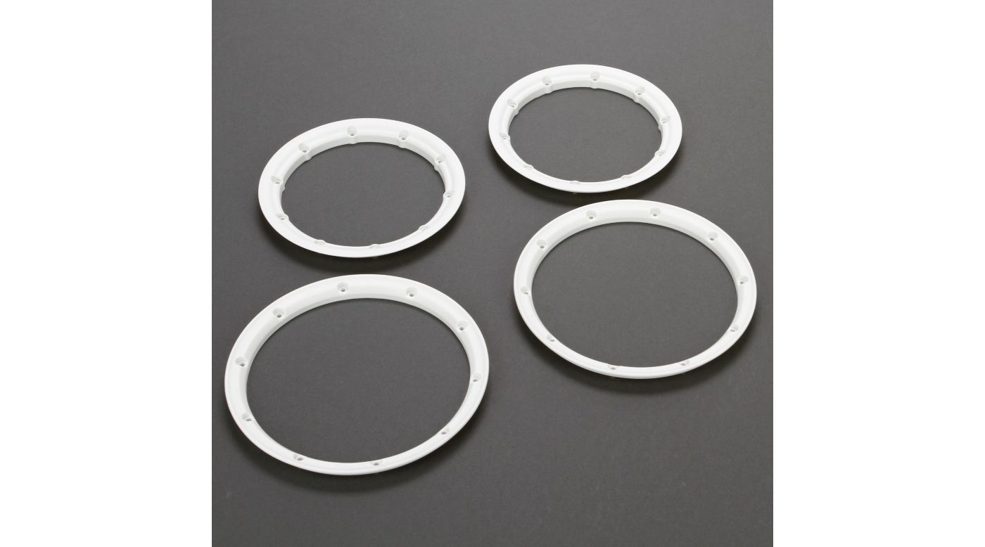 Image for Beadlock Set, Inner and Outer, White (2): 5T from HorizonHobby