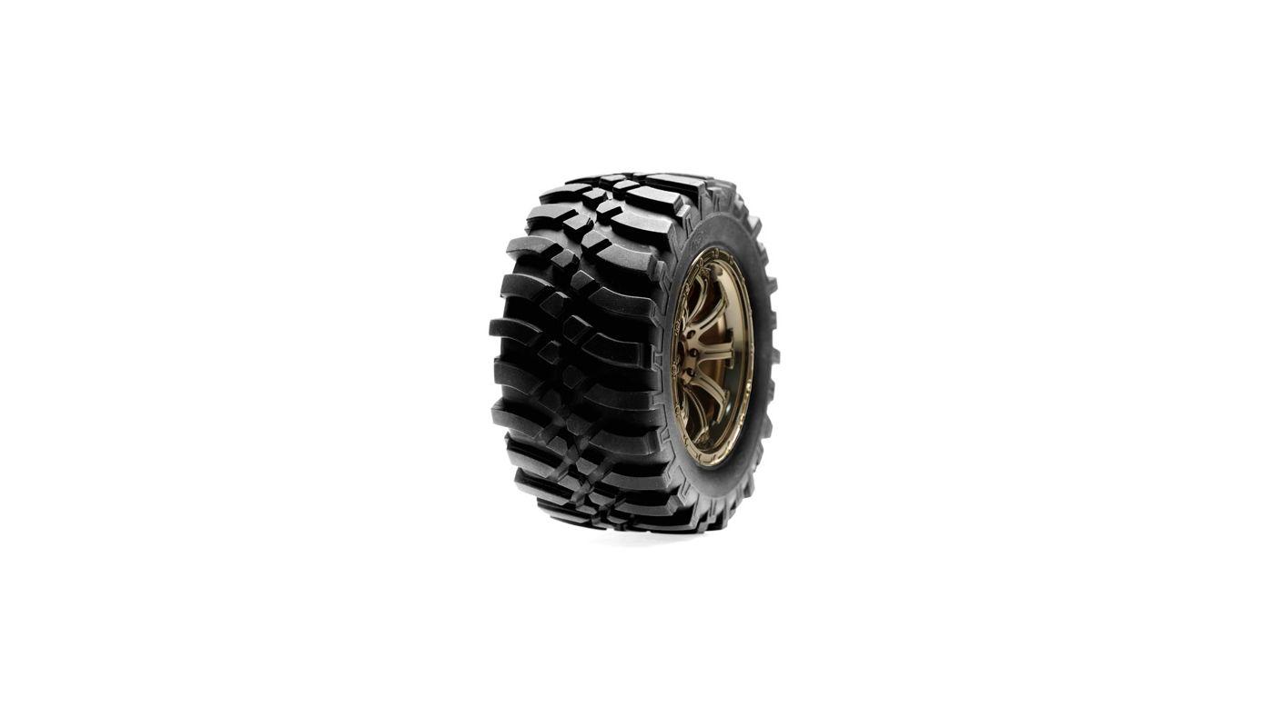 Image for Rear Wheel, Mounted, Black Chrome (Pr): HRL from HorizonHobby