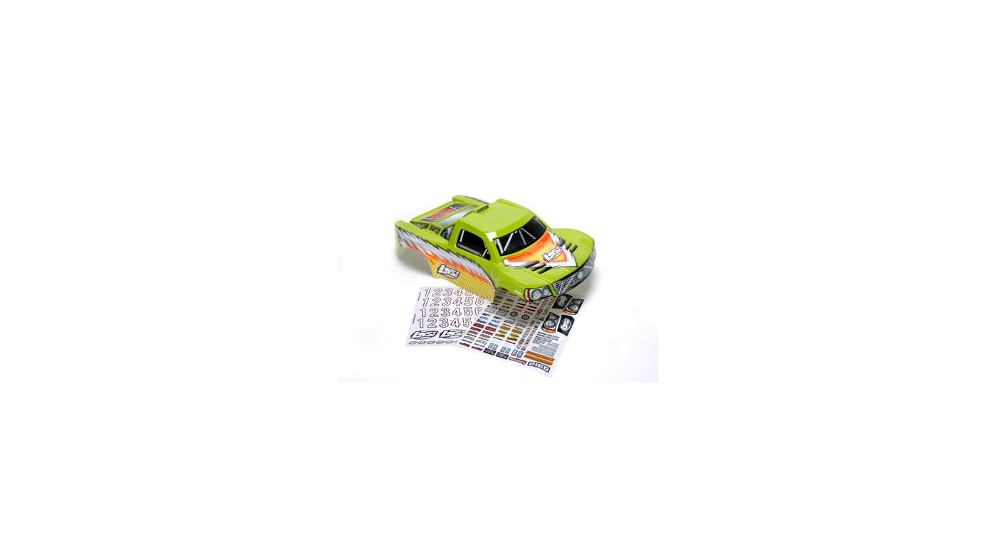Image for Strike Painted Body with Stickers, Green from HorizonHobby