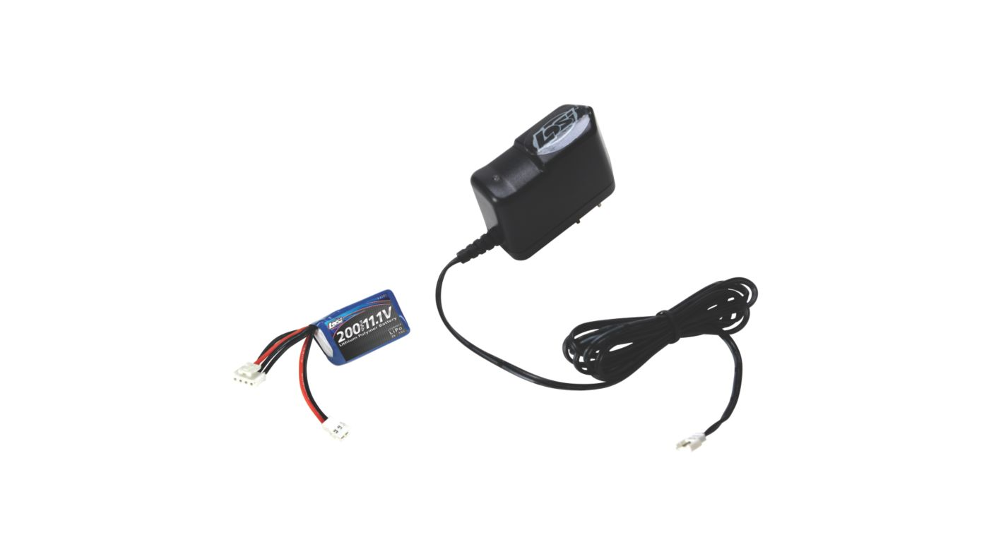 Image for 200mAh 3S 11.1V LiPo & Charger Micro SCT Rally from HorizonHobby