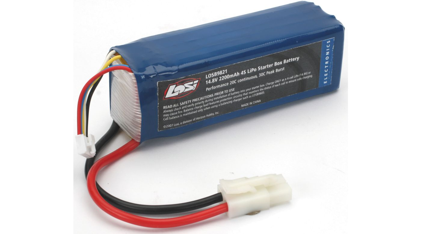 Image for 14.8V 2200mAh 4S LiPo 20C Starter Box Battery from HorizonHobby