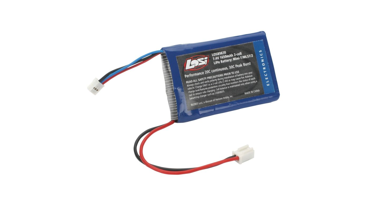 Image for 7.4V 1650mAh LiPo: MiniT/MDT/ MLST/2 from HorizonHobby