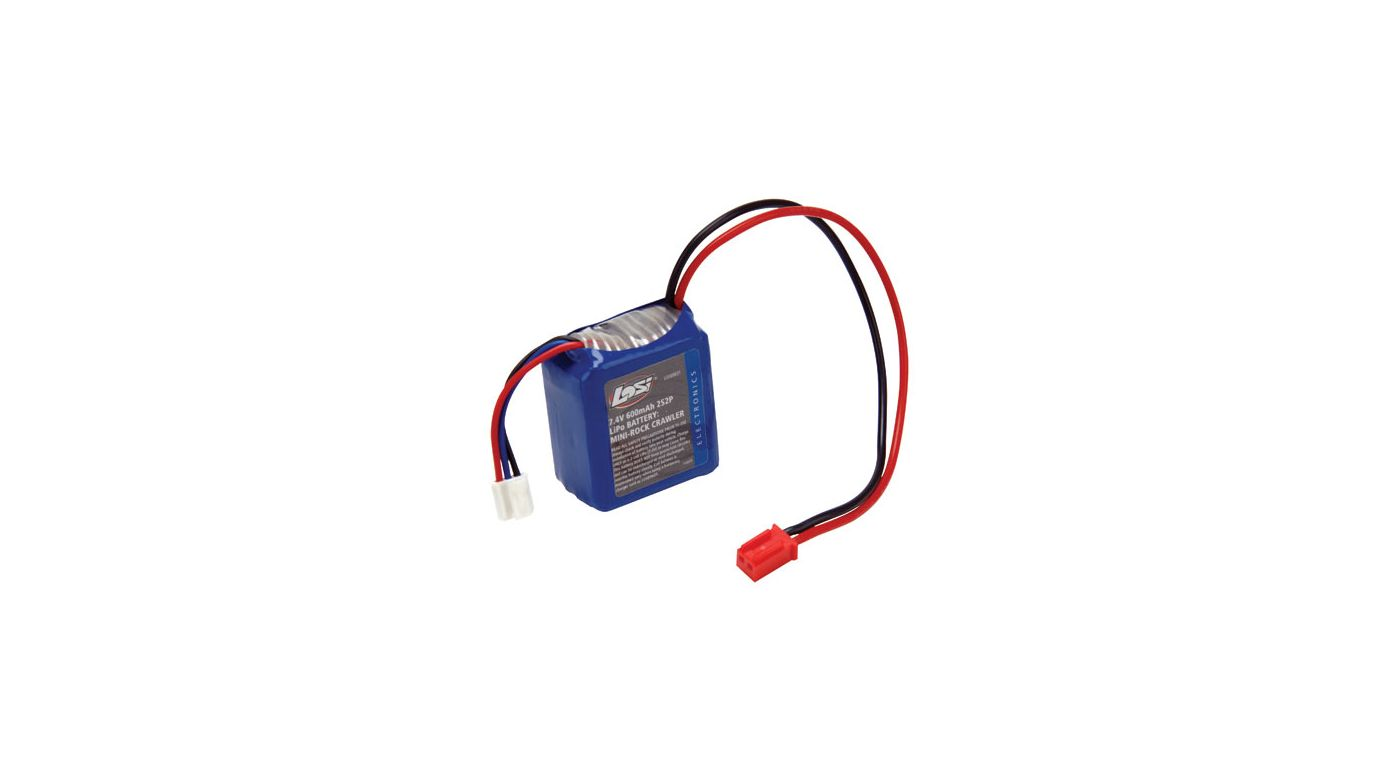 Image for 7.4V 600mAh 2S2P 20C LiPo: MRC from HorizonHobby