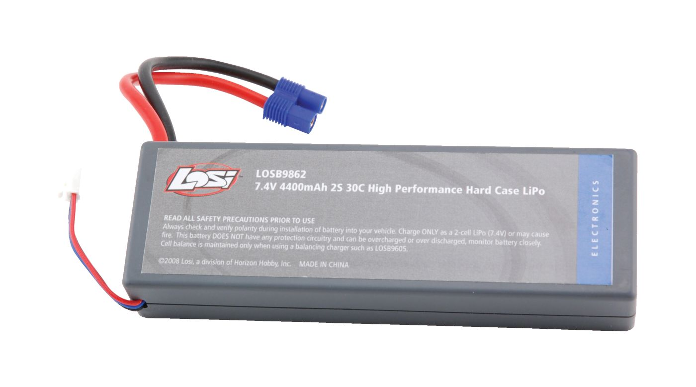 Image for 7.4V 4400mAh 2S 30C LiPo Battery Hard Case from HorizonHobby