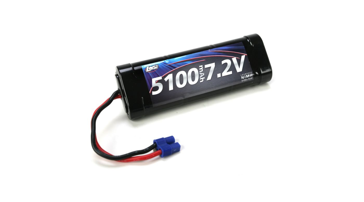 Image for 7.2V 5100mAh NiMH 6-Cell Flat with EC3 Connector from HorizonHobby
