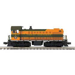 MTH20208931 MTH Electric Trains O Hi-Rail S-2 Switcher w/PS3, GN #9