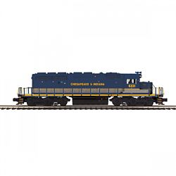 MTH 20211661 O-27 SD40-2 w/PS3 Chesapeake & Indiana #6321