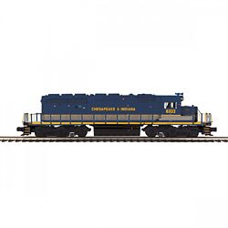 MTH 20211671 O-27 SD40-2 w/PS3 Chesapeake & Indiana #6322