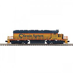 MTH 20211731 O-27 SD40-2 w/PS3 Chessie #7502