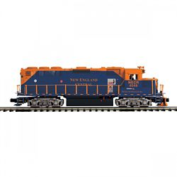 MTH 20212051 O-27 GP40 w/PS3 Hi-Rail New England Central #4048