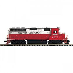 MTH20212071 MTH Electric Trains O-27 GP40 w/PS3 Hi-Rail, WM #6573 507
