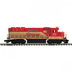 MTH20212101 MTH Electric Trains O-27 GP40 w/PS3 Hi-Rail, Indiana Sout