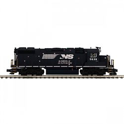 MTH 20-21222-1 O-27 GP38-2 w/PS3 Hi-Rail Norfork Southern #5639
