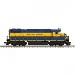 MTH 20-21225-1 O-27 GP38-2 w/PS3 Hi-Rail East Penn Railroad #2800