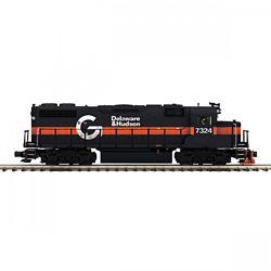 MTH20212301 MTH Electric Trains O-27 GP38-2 w/PS3 Hi-Rail, D&H #7324