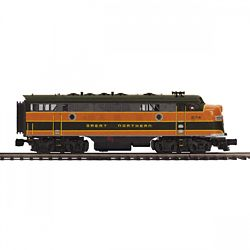 MTH20212361 MTH Electric Trains O-27 F7 A w/PS3 Hi-Rail, GN #274B 507