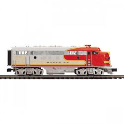 MTH20212414 MTH Electric Trains O-27 F7 A Dummy Hi-Rail, SF #44C 507-