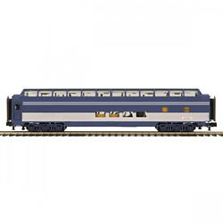 MTH Electric Trains MTH2064108 O 70' Ribbed SL Full Length Vista Dome