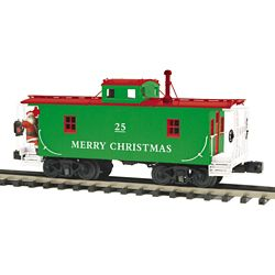 MTH 20-91636 N 6b Caboose with Operating Santa 3 Rail Premier Christmas