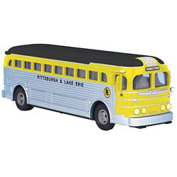 MTH 30-50106 Die Cast Bus Assembled Pittsburgh & Lake Erie