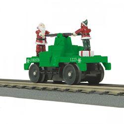 MTH 30-5183 O-27 Operating Hand Car Christmas