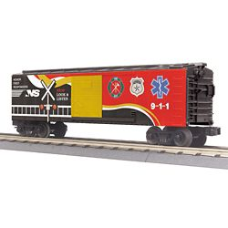 MTH 3074885 O Norfolk Southern Boxcar w/Blinking LEDs 3-Rail RailKing Norfolk Southern 507-3074885