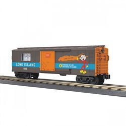 MTH 3074968 O-27 Operating Box Car w/Power Meter LIRR