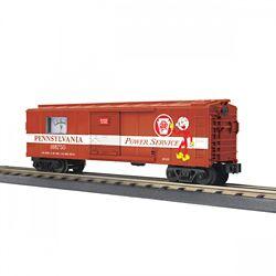 MTH 3074969 O-27 Operating Box Car w/Power Meter PRR